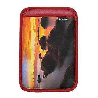 Paysage de plage au lever de soleil housses iPad mini