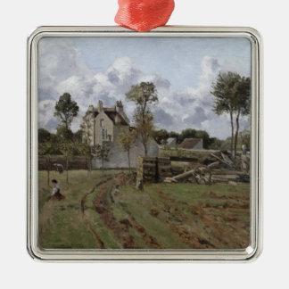 Paysage de Pontoise, c.1872 Ornement Carré Argenté