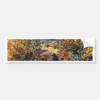 Paysage de ressort par Pierre-Auguste Renoir Autocollant De Voiture