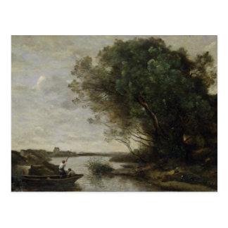 Paysage de rivière carte postale