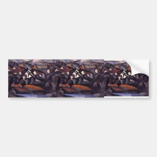 Paysage de Roger Fresnaye- chez Ferte Soud Jouarre Adhésif Pour Voiture