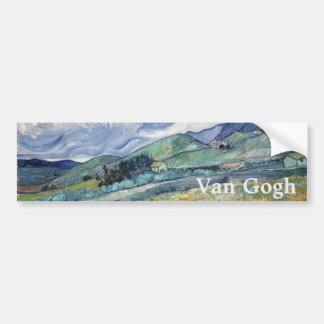Paysage de Saint-Remy par Vincent van Gogh Autocollants Pour Voiture