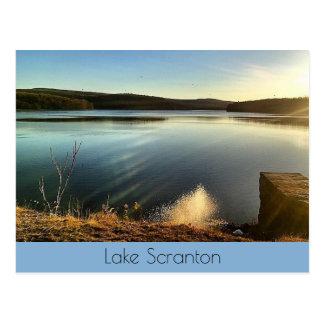 Paysage de Scranton-Crépuscule de lac Cartes Postales