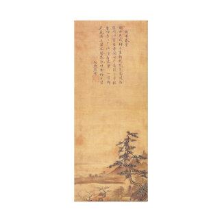 Paysage de Sesshu Toyo de quatre saisons - ressort Toile
