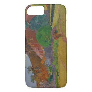 Paysage de Tahitian, 1891 (huile sur la toile) Coque iPhone 8/7