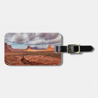 Paysage de vallée de monument, AZ Étiquettes Bagages
