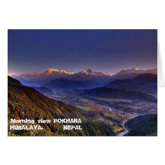 Paysage de vue : L'HIMALAYA POKHARA NÉPAL Cartes De Vœux