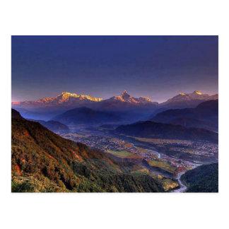 Paysage de vue : L'HIMALAYA POKHARA NÉPAL Carte Postale