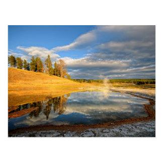 Paysage de Yellowstone Carte Postale