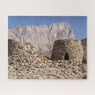 Paysage des puzzle à Oman - Tombes des ruches