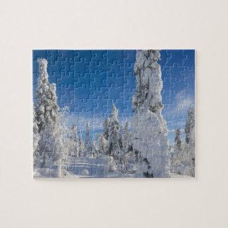 Paysage d'hiver dans Lappland Puzzle