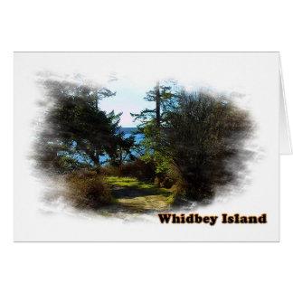 Paysage d'île de Whidbey Carte De Vœux