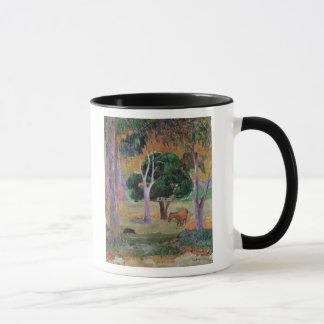 Paysage dominicain ou paysage avec un porc mug