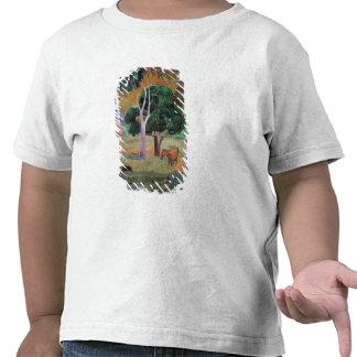 Paysage dominicain ou paysage avec un porc t-shirts
