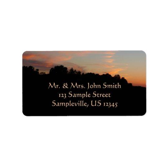 Paysage du Maryland de coucher du soleil Étiquette D'adresse