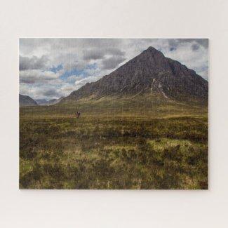 Paysage du puzzle en Écosse - Glencoe