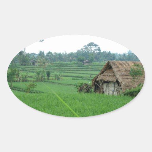 Paysage du Vietnam Sticker Ovale