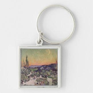 Paysage éclairé par la lune de Vincent van Gogh  , Porte-clés
