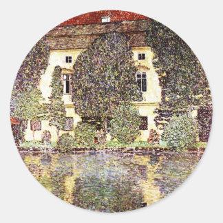 Paysage frais - Gustav Klimt Sticker Rond