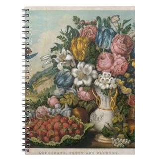 Paysage - fruit et fleurs carnets