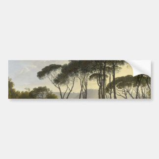 Paysage italien avec la peinture à l'huile de pins autocollant pour voiture