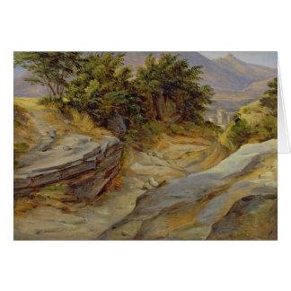 Paysage italien de montagne, c.1824 carte de vœux