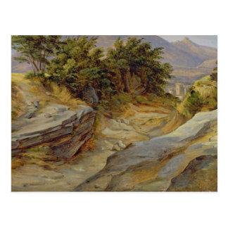 Paysage italien de montagne, c.1824 carte postale