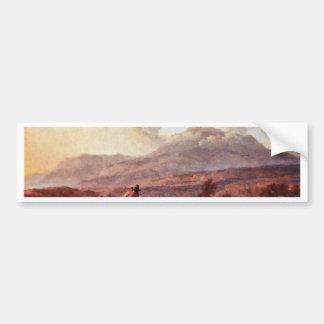 Paysage italien de soirée par Berchem Nicolaes Adhésif Pour Voiture