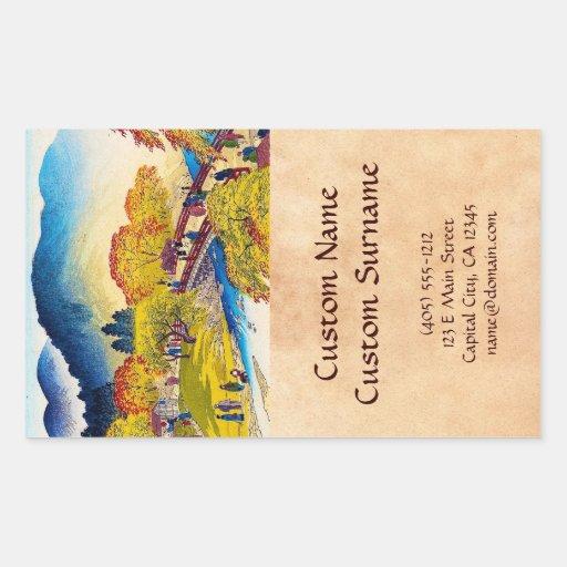 Paysage japonais frais de pont de Fall River de mo Autocollants