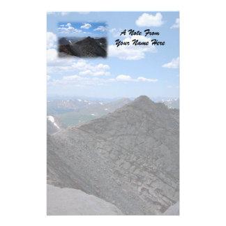 Paysage lunaire de montagnes rocheuses du Colorado Papeterie