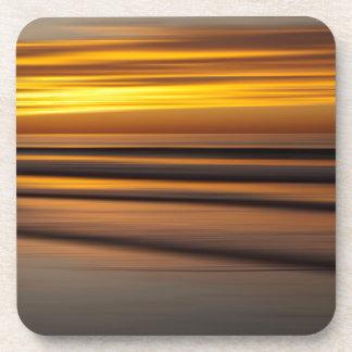 Paysage marin abstrait au coucher du soleil, CA Dessous-de-verre