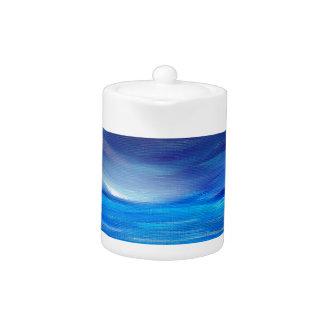 Paysage marin abstrait de bleu et de pourpre