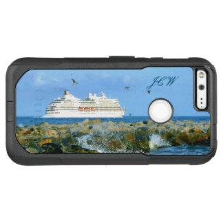 Paysage marin avec le bateau de croisière décoré coque google pixel XL par OtterBox commuter