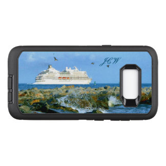 Paysage marin avec le bateau de croisière décoré coque samsung galaxy s8+ par OtterBox defender