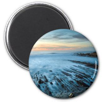 Paysage marin bleu au coucher du soleil, la aimant