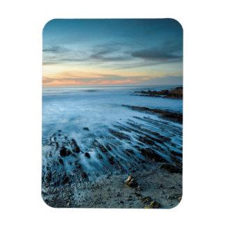 Paysage marin bleu au coucher du soleil, la magnet flexible