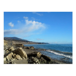 Paysage marin bleu avec la carte postale de