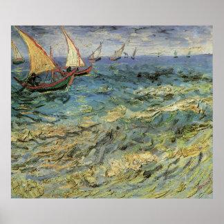 Paysage marin chez Saintes-Maries - Van Gogh Posters