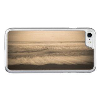 Paysage marin de B&W, Hawaï Coque Iphone 7 En Bois