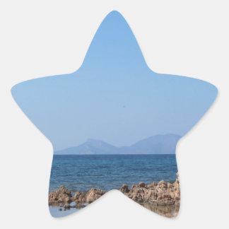 Paysage marin de la Sardaigne en été Sticker Étoile