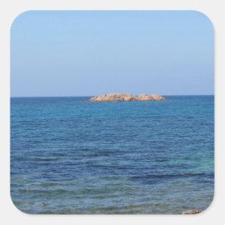 Paysage marin de la Sardaigne en été Sticker Carré