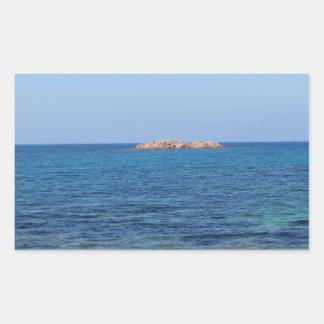 Paysage marin de la Sardaigne en été Sticker Rectangulaire