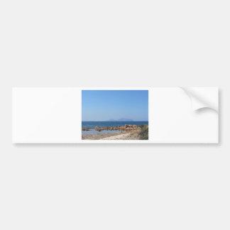 Paysage marin de la Sardaigne en été Autocollant De Voiture