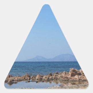 Paysage marin de la Sardaigne en été Sticker Triangulaire
