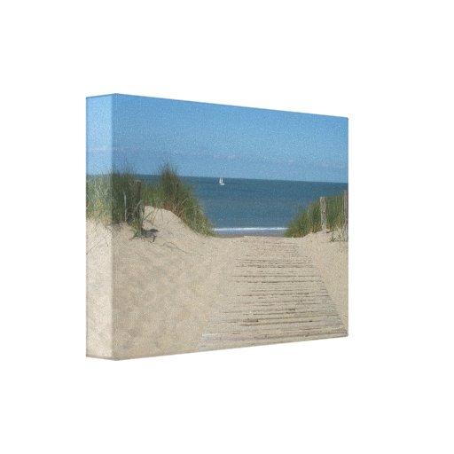 paysage marin de plage et copie blanche de toile d toile tendue sur ch ssis zazzle. Black Bedroom Furniture Sets. Home Design Ideas