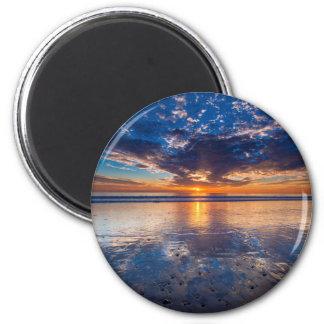 Paysage marin dramatique, coucher du soleil, CA Aimant