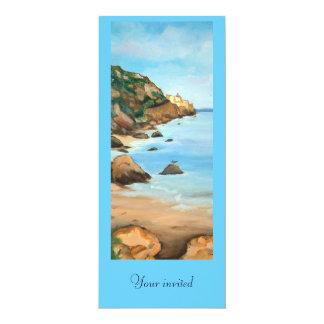Paysage marin carton d'invitation  10,16 cm x 23,49 cm
