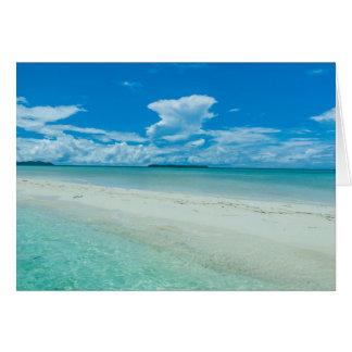 Paysage marin tropical bleu, Palaos Carte De Vœux