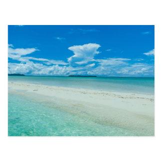 Paysage marin tropical bleu, Palaos Cartes Postales