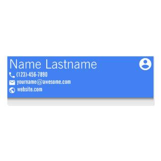 Paysage matériel de bleu de conception carte de visite petit format